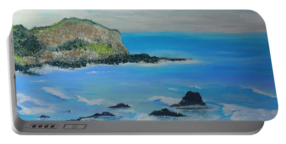 Hawaii Portable Battery Charger featuring the painting Aloha by Melinda Etzold