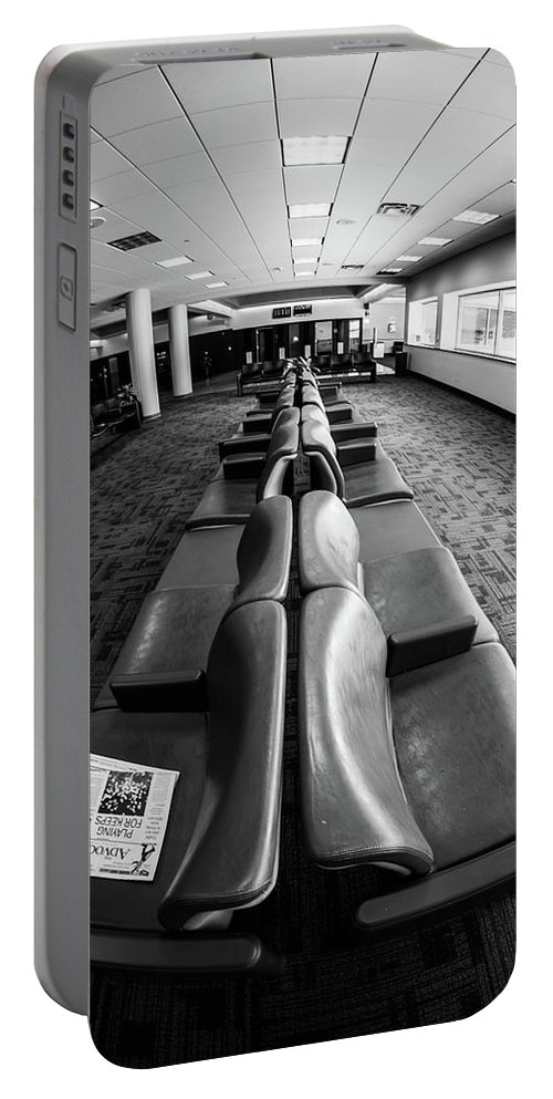 Artisans Portable Battery Charger featuring the photograph Alone At The Airline Gate by Cary Leppert