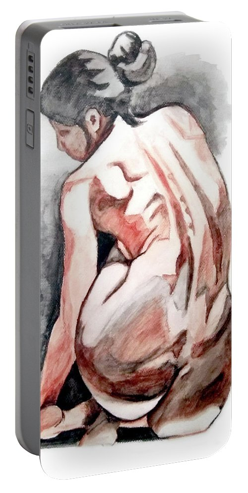 Alone Portable Battery Charger featuring the painting Alone Too by John Constantine