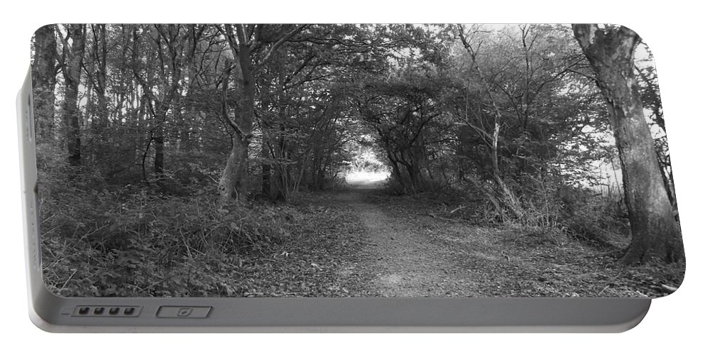 Woodland Portable Battery Charger featuring the photograph Along A Woodland Path by Justin Farrimond