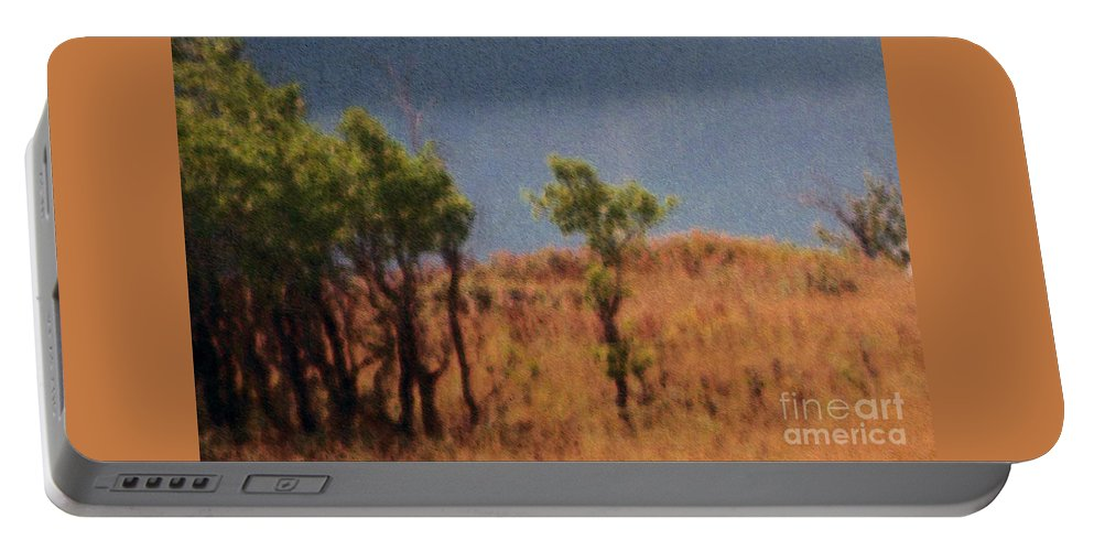 Field Portable Battery Charger featuring the digital art Along The Lake by Richard Rizzo