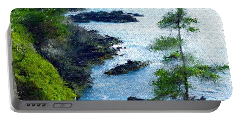 Digital Photograph Portable Battery Charger featuring the photograph Along The West Coast 1 by David Lane
