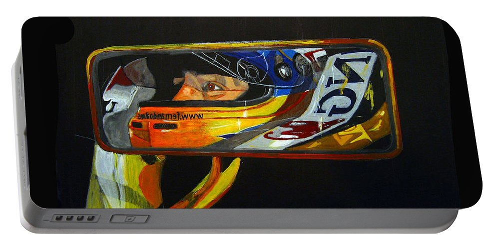 Alonso Portable Battery Charger featuring the painting Alonso by Richard Le Page