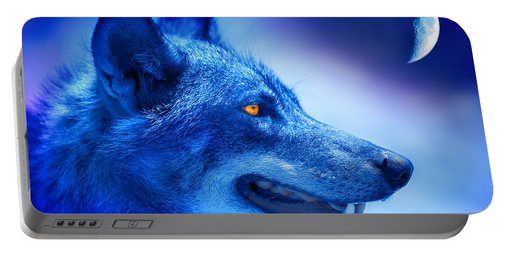 Wolf Portable Battery Charger featuring the photograph Alpha Wolf by Mal Bray
