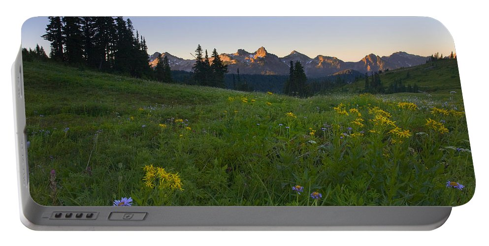 Dawn Portable Battery Charger featuring the photograph Alpine Dawn by Mike Dawson