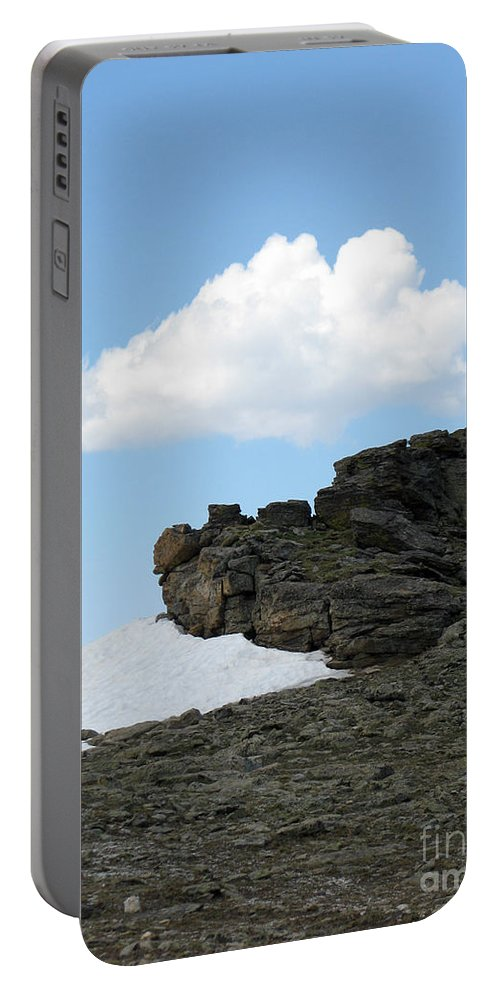 Rocky Mountains Portable Battery Charger featuring the photograph Alpine Tundra - Up In The Clouds by Amanda Barcon