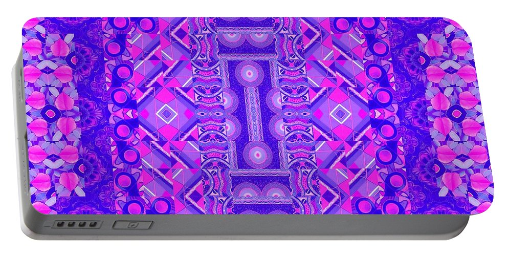 Abstract Portable Battery Charger featuring the digital art Altered Perceptions 3 by Helena Tiainen