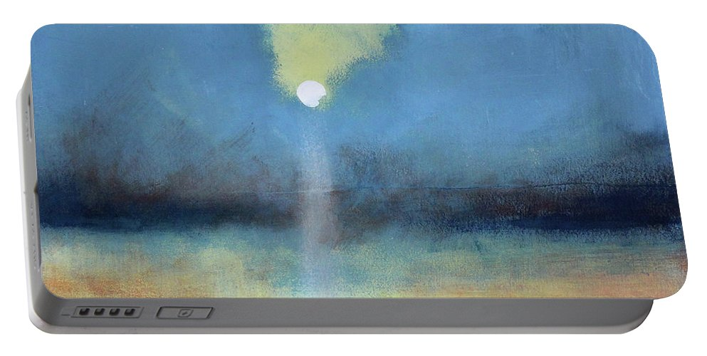 Moon Portable Battery Charger featuring the painting Always Hopeful by Toni Grote