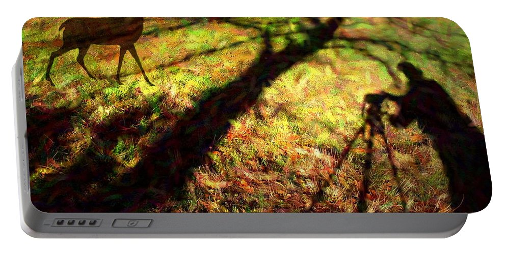 Shadow Portable Battery Charger featuring the photograph Always Hunting by Joyce Dickens