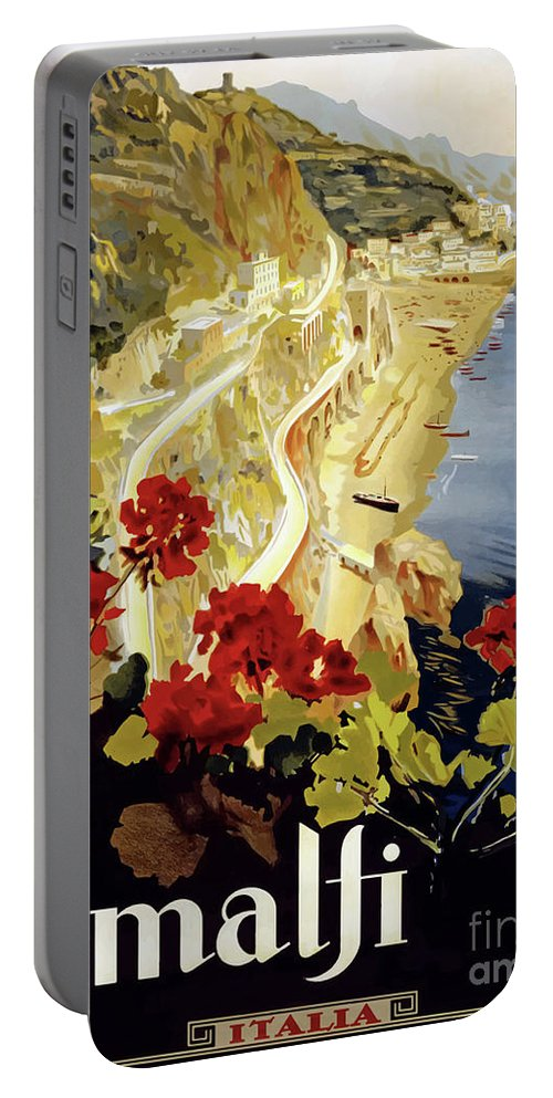 Italy Portable Battery Charger featuring the digital art Amalfi Italy by Steven Parker