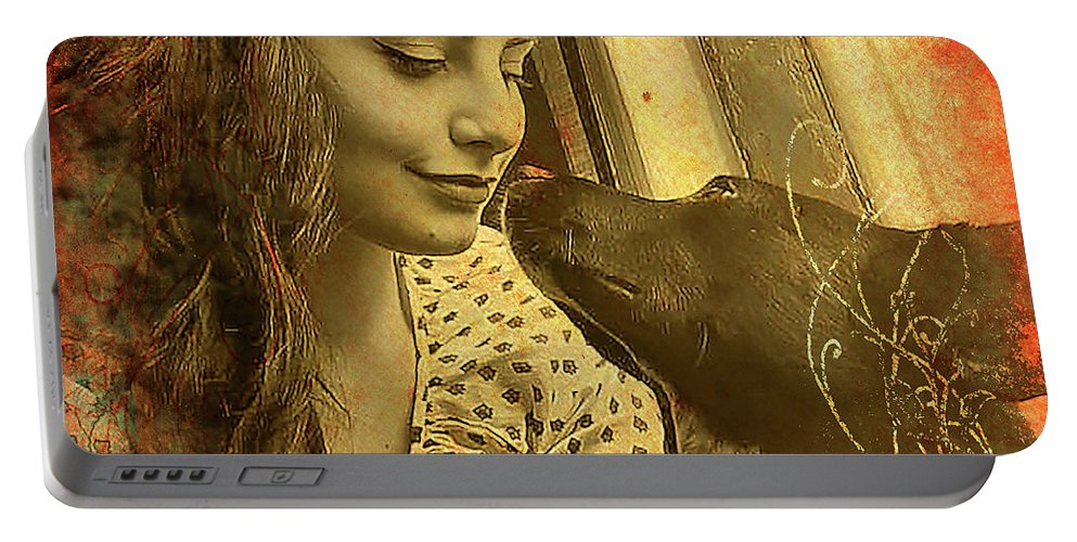 Amanda Lynn Ludwig Portable Battery Charger featuring the photograph Amanda And Petey by Jose A Gonzalez Jr