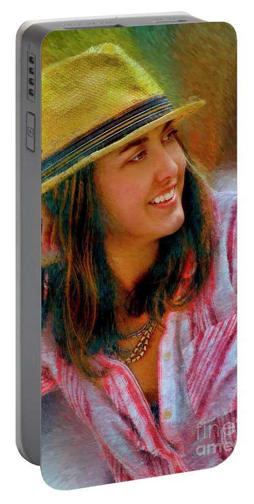 Jessica Mankin Portable Battery Charger featuring the photograph Jessica Mankin by Blake Richards