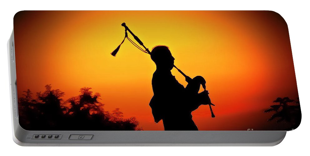 Sunset Portable Battery Charger featuring the photograph Amazing Grace by Jim Cazel