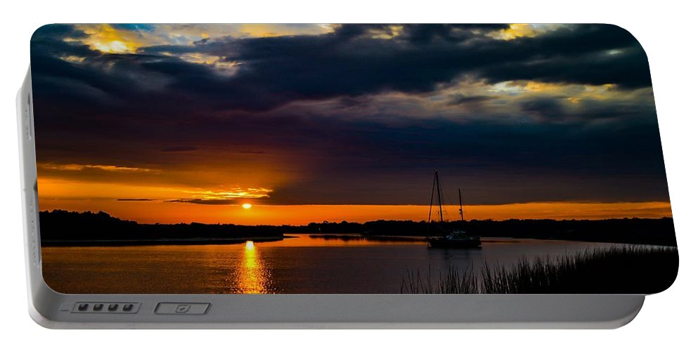 Sky. Clouds Portable Battery Charger featuring the photograph Amazing Sky by Angela Sherrer