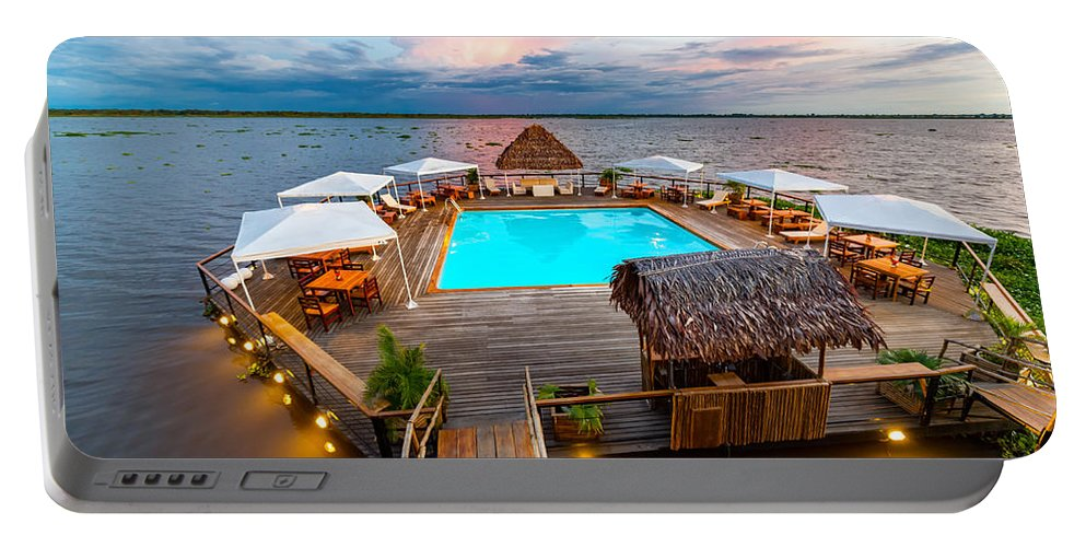 Peru Portable Battery Charger featuring the photograph Amazon Swimming Pool by Jess Kraft