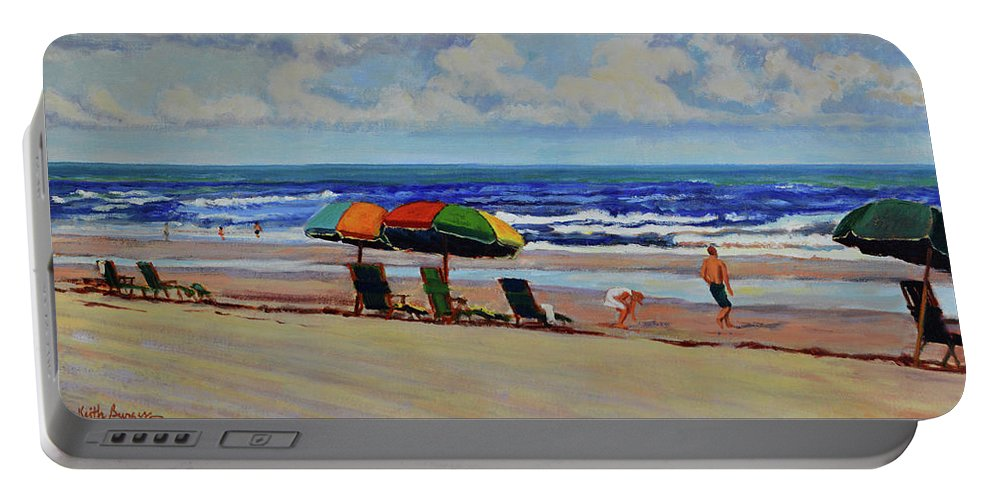Impressionism Portable Battery Charger featuring the painting Amelia Afternoon by Keith Burgess