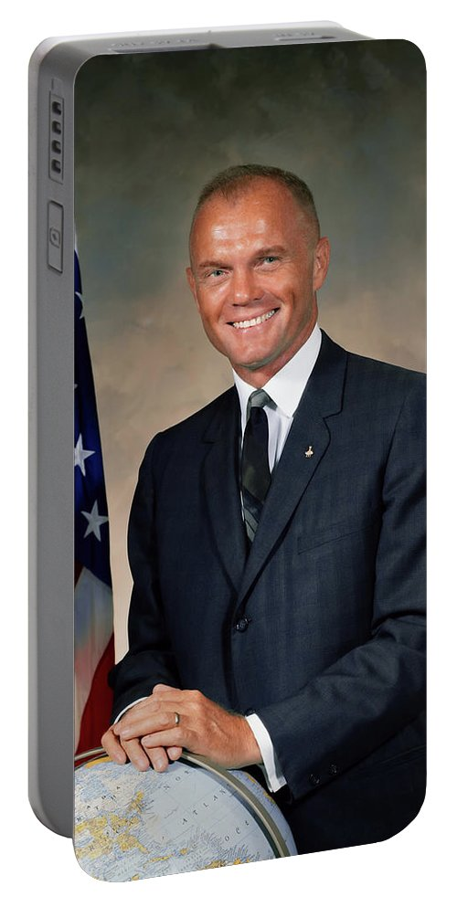 John Glenn Portable Battery Charger featuring the photograph American Astonaut John Glenn by N A S A