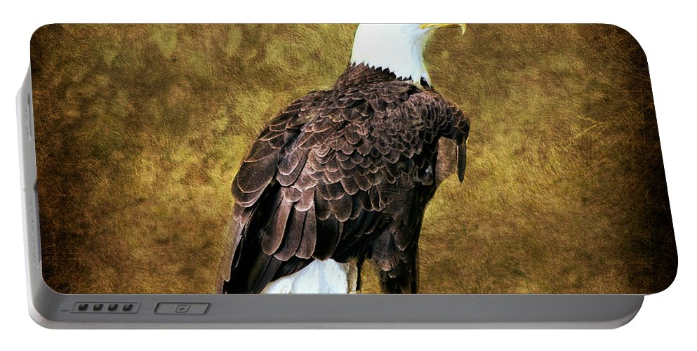 American Bald Eagle Portable Battery Charger featuring the photograph American Bald Eagle by Judy Palkimas