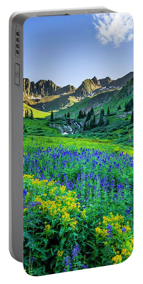 American Portable Battery Charger featuring the photograph American Basin In Bloom by Wick Smith