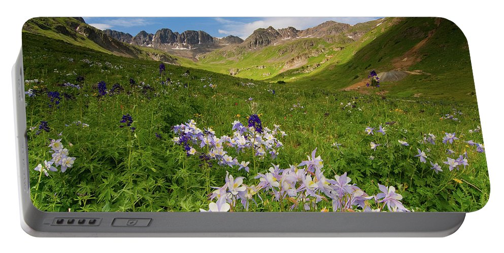 Colorado Portable Battery Charger featuring the photograph American Basin by Steve Stuller