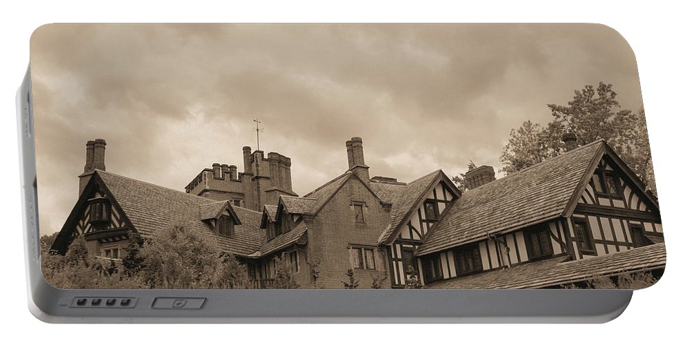 Stan Hywet Portable Battery Charger featuring the photograph American Castle by Kristin Elmquist