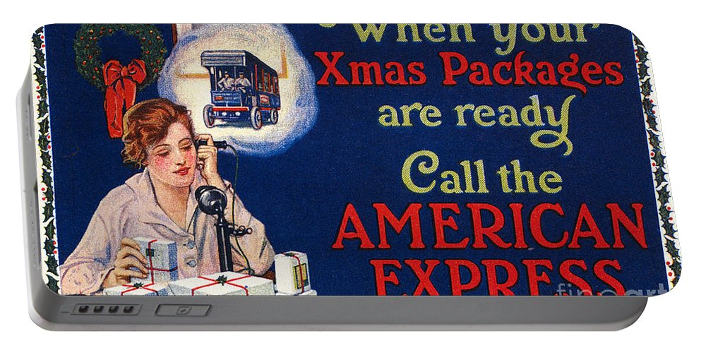 1915 Portable Battery Charger featuring the photograph American Express Shipping by Granger