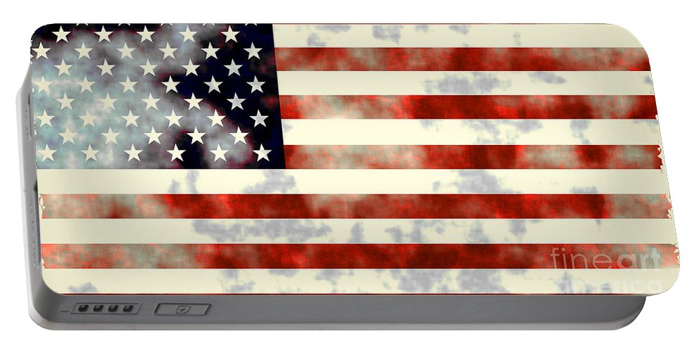 Flag Portable Battery Charger featuring the photograph American Flag by Sebastien Coell