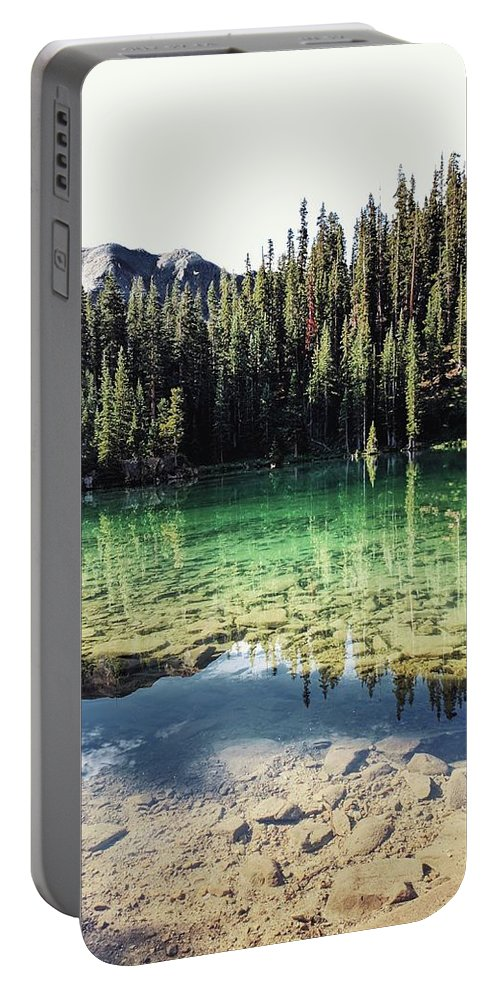 Portable Battery Charger featuring the photograph American Lake by Kristina Jenson