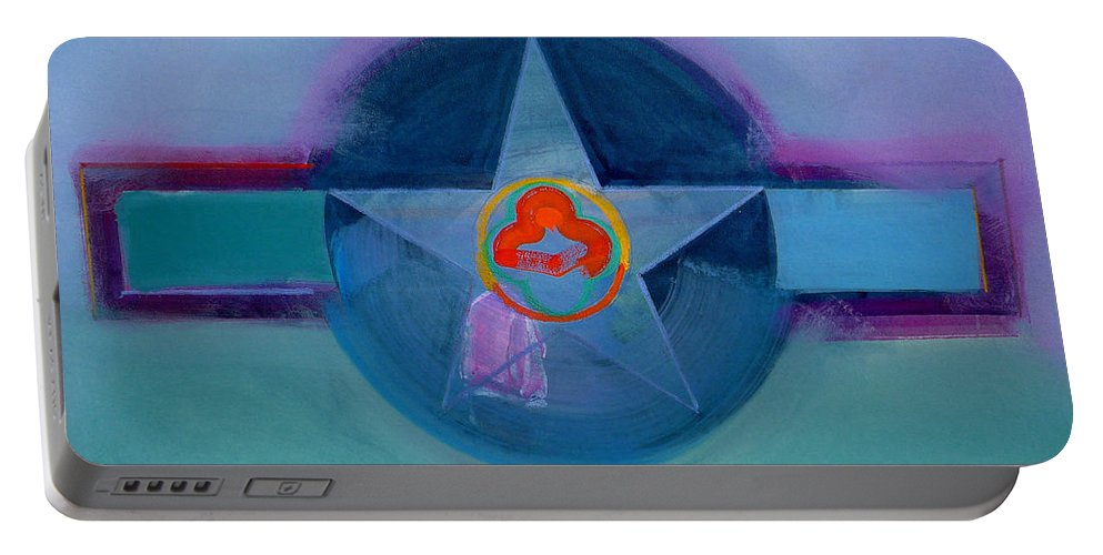 Star Portable Battery Charger featuring the painting American Spiritual by Charles Stuart