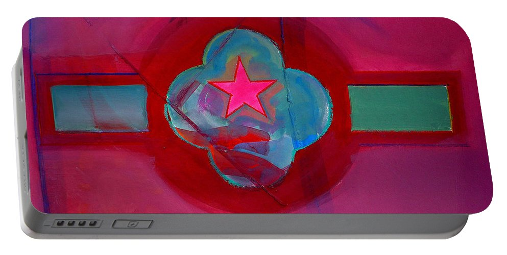 Star Portable Battery Charger featuring the painting American Spiritual Decal by Charles Stuart