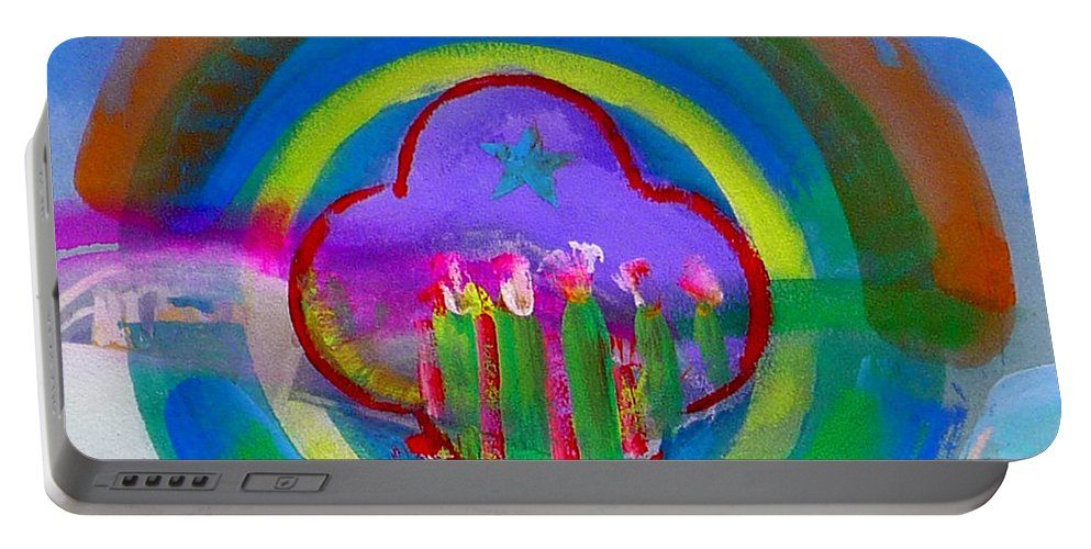 Love Portable Battery Charger featuring the painting American Spring by Charles Stuart