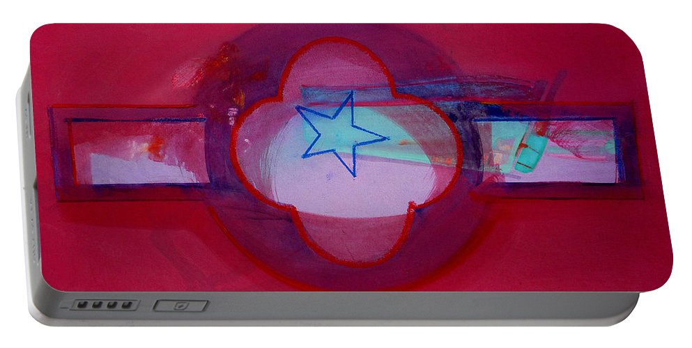 Star Portable Battery Charger featuring the painting American Star Of The Sea by Charles Stuart