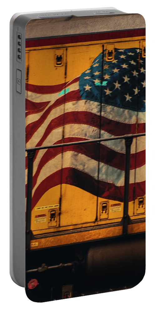 4th Of July Portable Battery Charger featuring the photograph American Workhorse by Walking Pants