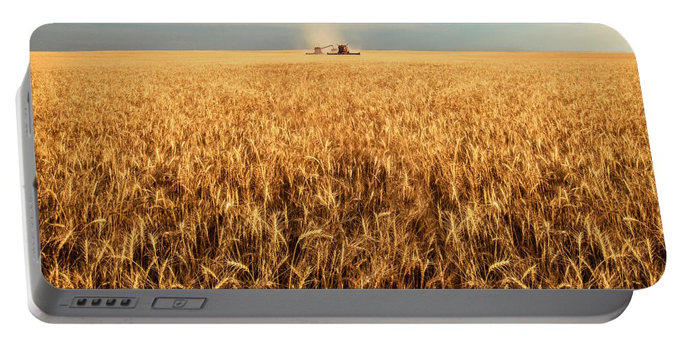 Two Portable Battery Charger featuring the photograph America's Breadbasket by Todd Klassy
