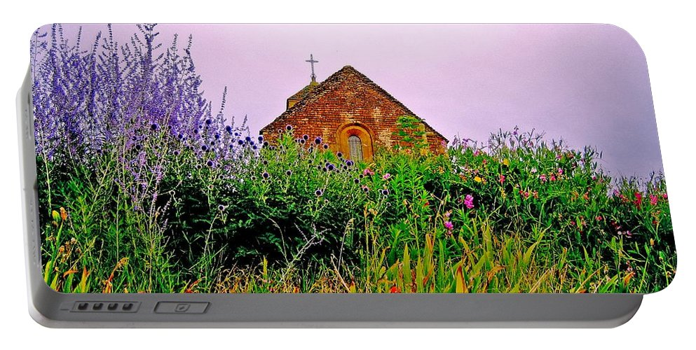 Chapel Portable Battery Charger featuring the photograph Ameugny 3 by Jeff Barrett