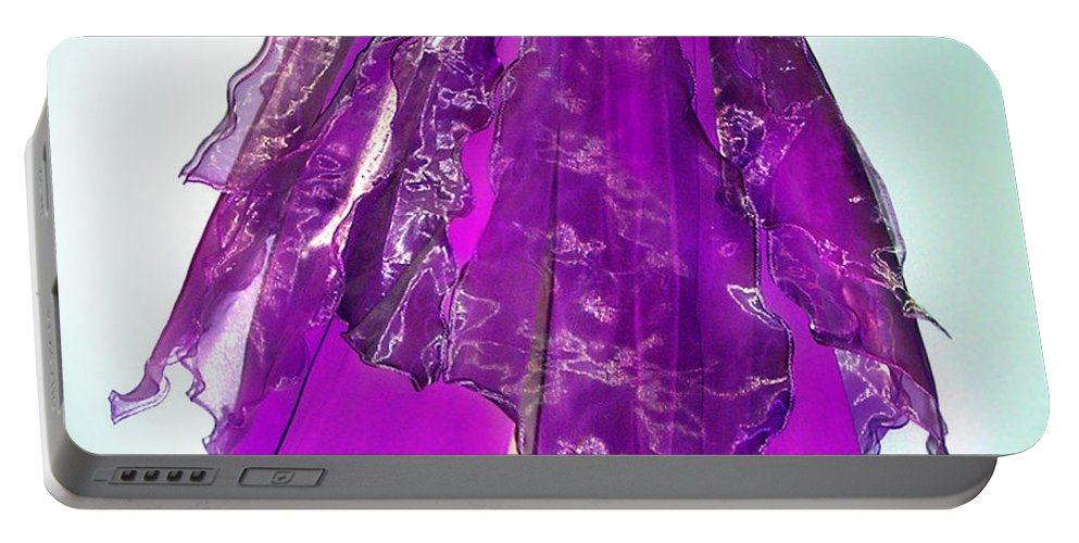 Ameynra Portable Battery Charger featuring the photograph Ameynra Fashion - Iris Skirt by Sofia Metal Queen