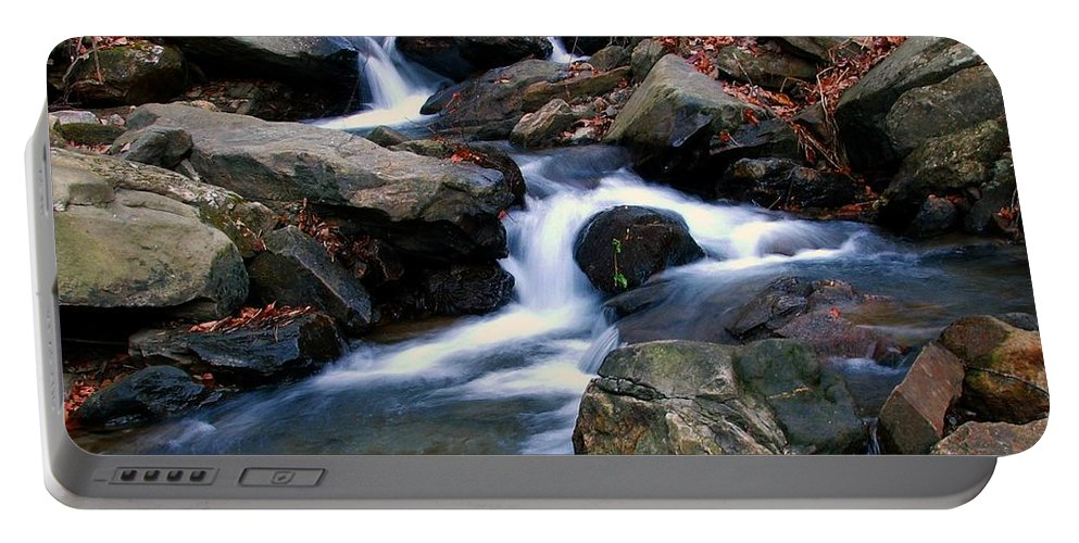 Water Portable Battery Charger featuring the photograph Amicalola Stream by Robert Meanor