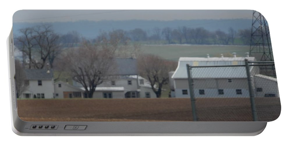 Amish Portable Battery Charger featuring the photograph Amish Farm After Harvest by Christine Clark