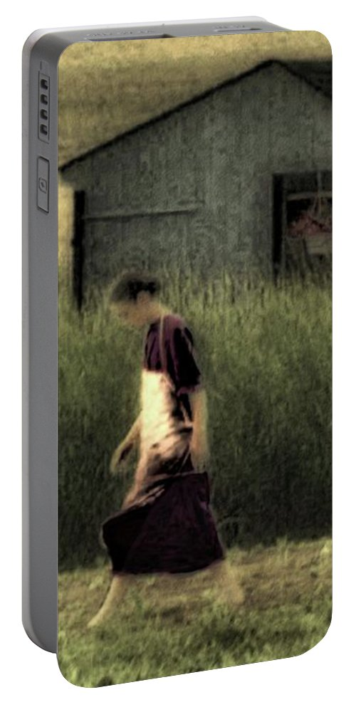 Amish Portable Battery Charger featuring the photograph Amish Life by John Feiser