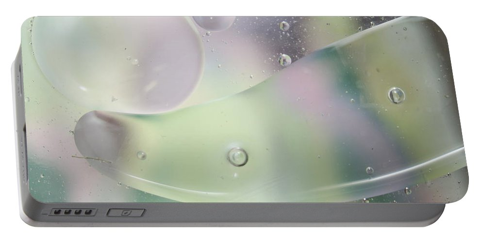 Abstract Portable Battery Charger featuring the photograph Amoeboid by Michael Peychich