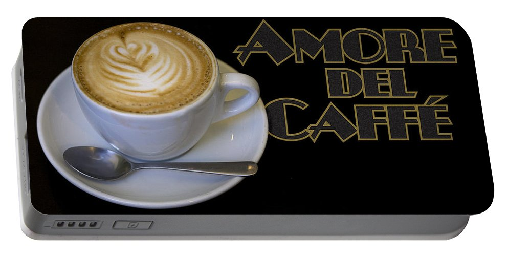 Coffee Portable Battery Charger featuring the photograph Amore Del Caffe Poster by Tim Nyberg