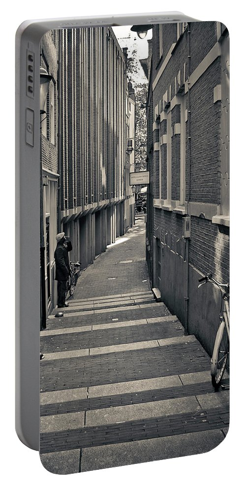 3scape Photos Portable Battery Charger featuring the photograph Amsterdam by Adam Romanowicz
