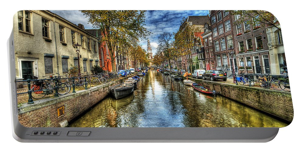 Amsterdam Portable Battery Charger featuring the photograph Amsterdam by Svetlana Sewell