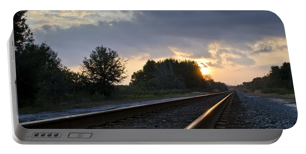 Train Portable Battery Charger featuring the photograph Amtrak Railroad System by Carolyn Marshall