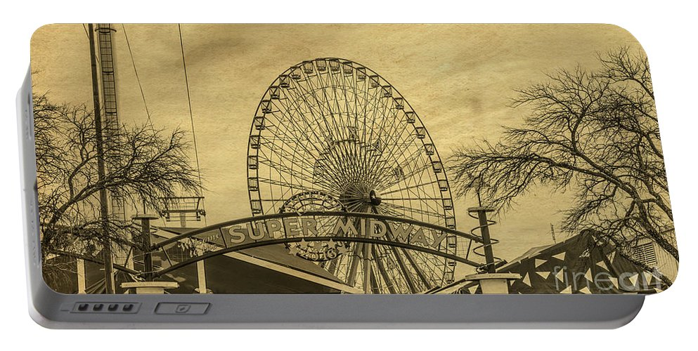 Amusement Park Portable Battery Charger featuring the photograph Amusement Park Vintage by Tod and Cynthia Grubbs