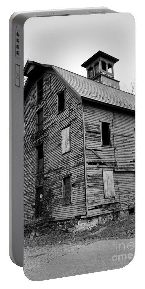 Paul Ward Portable Battery Charger featuring the photograph An Abandoned Mill by Paul Ward
