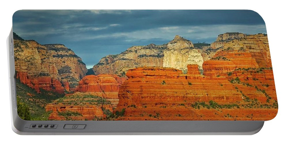 Nature Portable Battery Charger featuring the photograph An Act of God, Fay Canyon, Arizona by Zayne Diamond Photographic