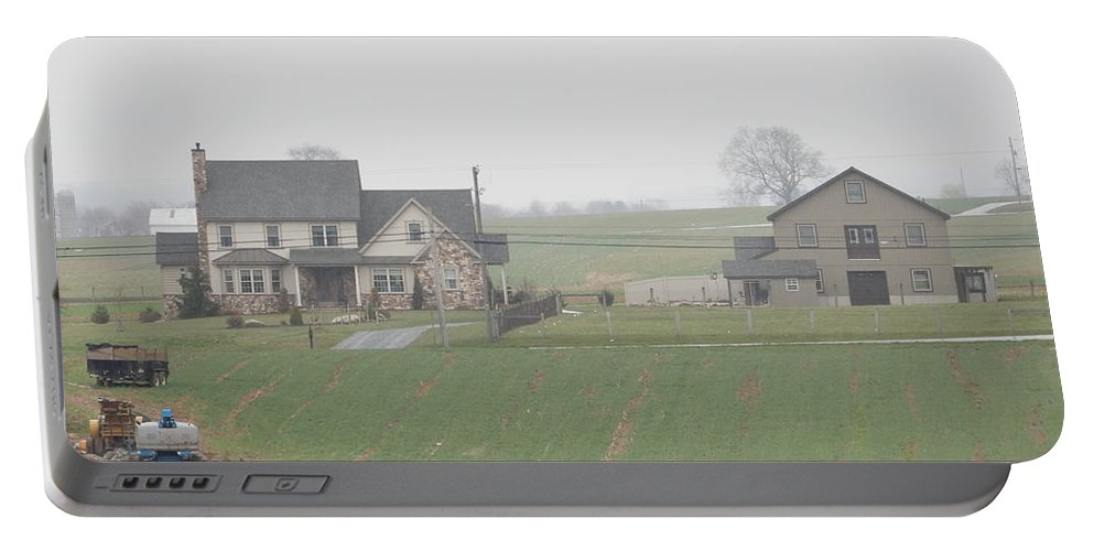 Amish Portable Battery Charger featuring the photograph An Amish Family Home by Christine Clark