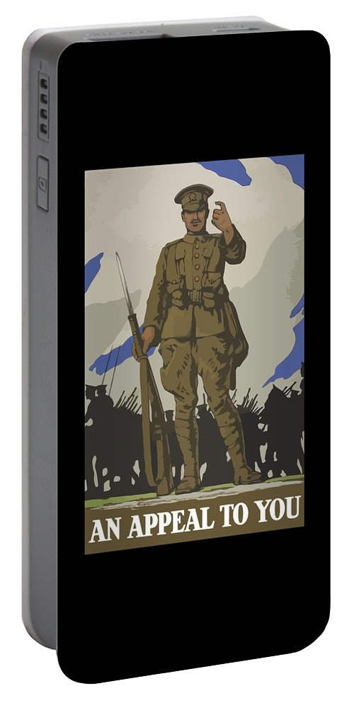 Propaganda Portable Battery Charger featuring the painting An Appeal To You by War Is Hell Store