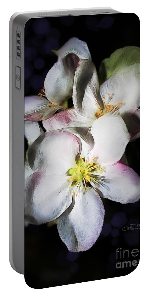 Apple Portable Battery Charger featuring the photograph An Apple To-be by Jutta Maria Pusl